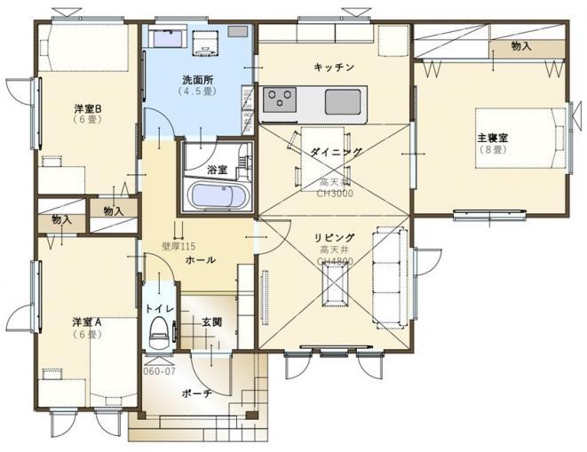【コスモ建設】家族団らんを楽しむ平屋の暮らし Canterbury(カンタベリー) 画像2