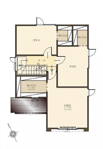 【コスモ建設】2階全室W.I.CLOの家  Pescara  ペスカーラ 画像3