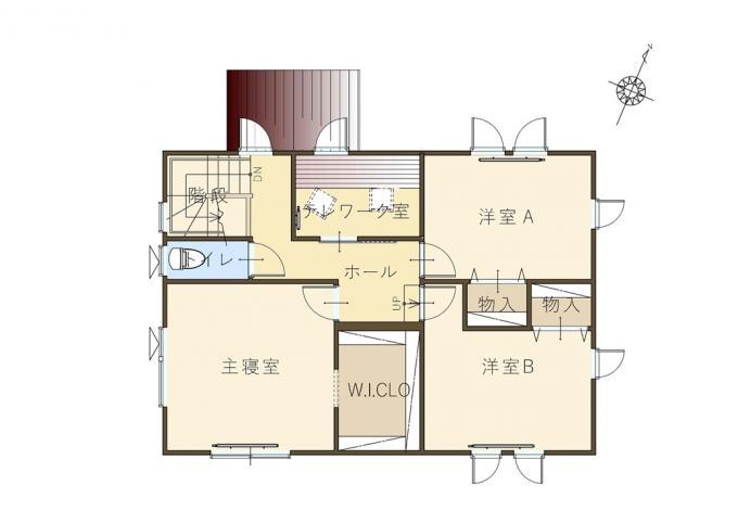 【コスモ建設】仕事が捗る♪テレワーク室のある家  Caserta  カゼルタ 画像3