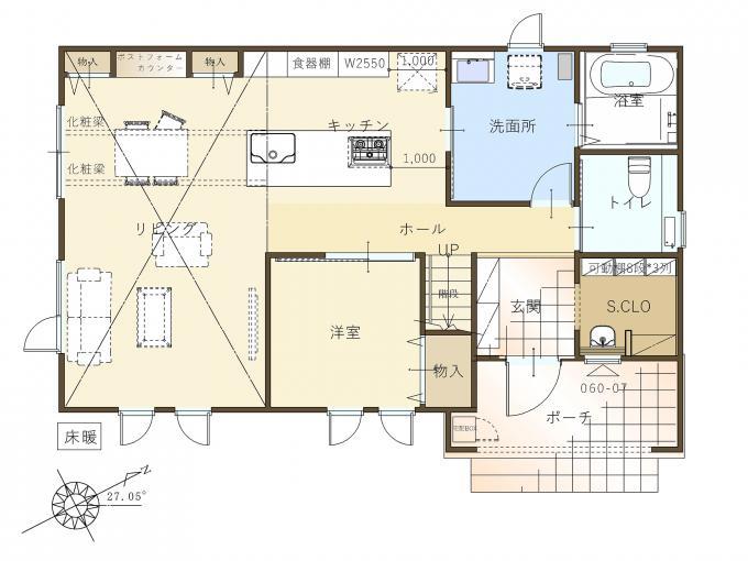【コスモ建設】《角地》大空間!14帖の吹き抜けリビングの家  Napoli  ナポリ 画像3