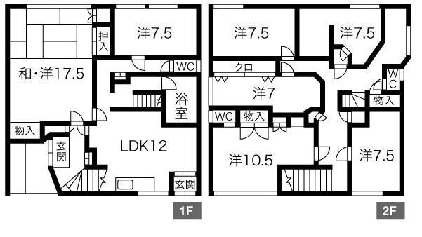 <事務所可能>小樽市花園貸家 画像3