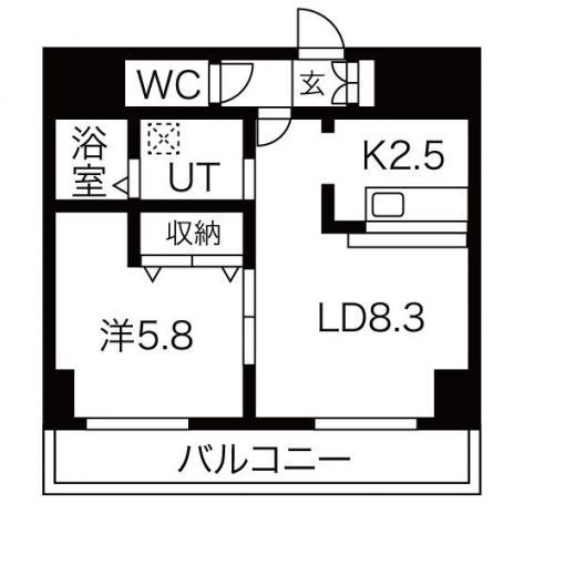 ★☆家具家電付き物件☆★サンコート南6条壱番館 403号室 画像3