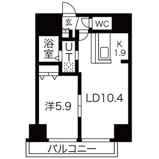 ★☆お手入れしやすいフローリング☆★サンコート本郷通ガーデンヒルズ 602号室 画像3