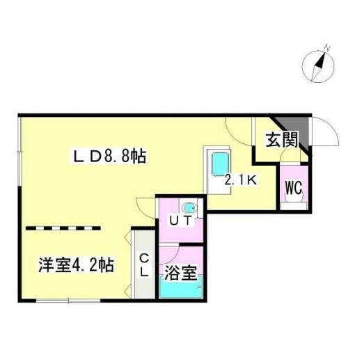 ★☆地下鉄東豊線「月寒中央」駅徒歩3分☆★ブリオーレ月寒中央 105号室 画像3