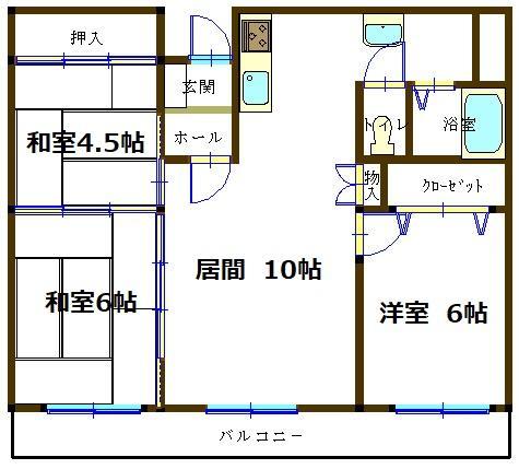 釧路市旭町 くしろリバーサイドマンション 画像2