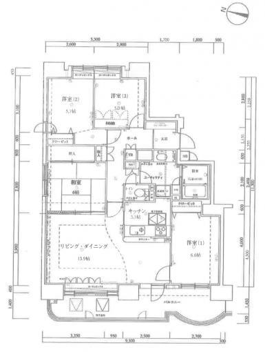 ◆グランカーサ北35条A棟 令和3年6月末リフォーム済み 都市ガス ペット飼育 90平米超えの大型マンション◆ 画像3