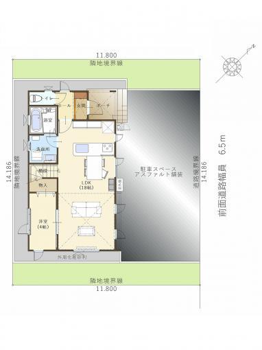 【コスモ建設】広々!高天井リビング&18帖LDKの家Vejleバイレ 画像3