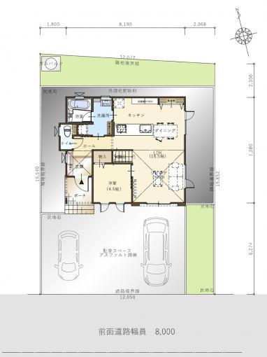 【コスモ建設】ワークスペースと高天井リビングのある家①  Bastia  バスティア 画像2