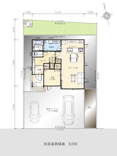 【コスモ建設】ワークスペースと高天井リビングのある家②  Limoges  リモージュ 画像2