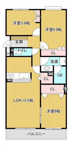 北海道札幌市白石区栄通5丁目4-10 の売買中古マンション物件詳細はこちら