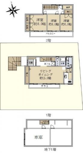 ☆大曲柏葉1丁目 新品家具付きリフォーム住宅☆ 画像3