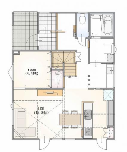 レ―ヴ富丘 モデルハウス《郷土建設》 画像3