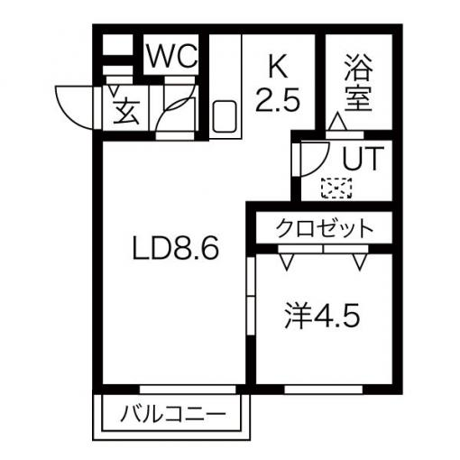 ★☆おしゃれなデザイナーズ仕様☆★バイラ白石本通 303号室 画像2