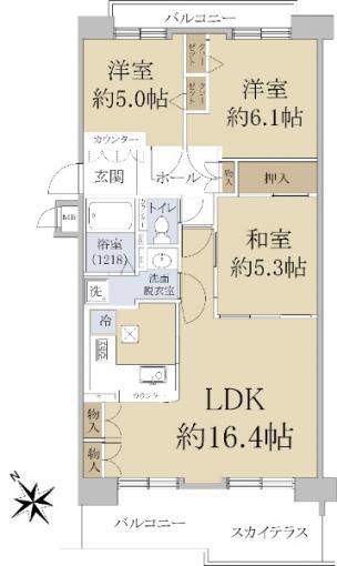◆ハウスオブリザ菊水三番館 「菊水」駅徒歩約1分!◆ 画像2