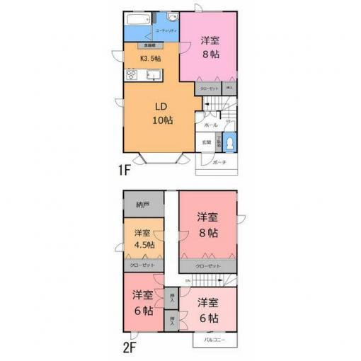 苫小牧市 もえぎ町1丁目 (錦岡駅 ) 2階建 5SLDK 画像2