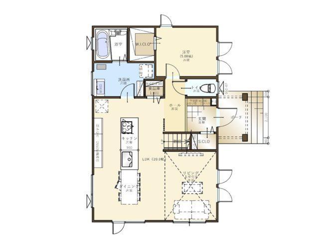 【コスモ建設】アイランドキッチンを楽しむ家  London  ロンドン 画像2