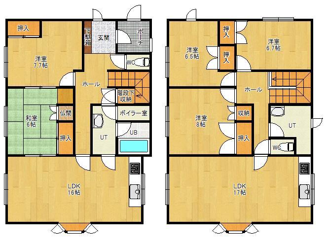 令和3年10月フルリフォーム完成/二世帯住宅/2LDK+3LDK【山手町1丁目】 画像3