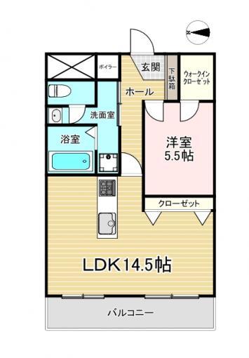 誉グランドハイツ 7階 1LDK 画像3