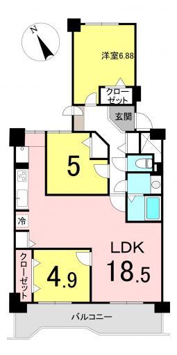 【アフターサービス保証付きのリノヴェックスマンション!】おおやちビレジ一号棟3LDK 画像3