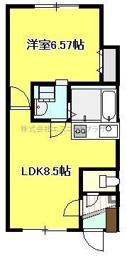 札幌市清田区のアパート 画像2